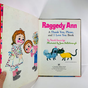 Raggedy Ann by Norah Smaridge 1969 A Big Golden Book-Reading Vintage
