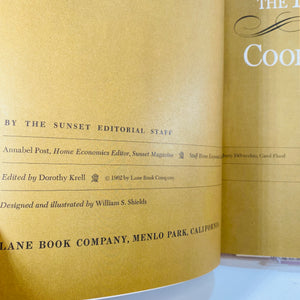 The Dinner Party Cook Book Sunset Editorial Staff 1966-Reading Vintage