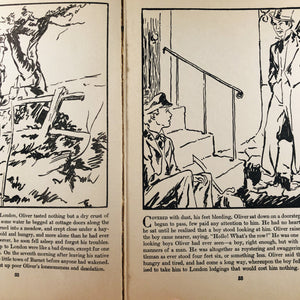 The Childs Picture Story of Oliver Twist Retold from the Story by Charles Dickens 1935 A Vintage Children's Story