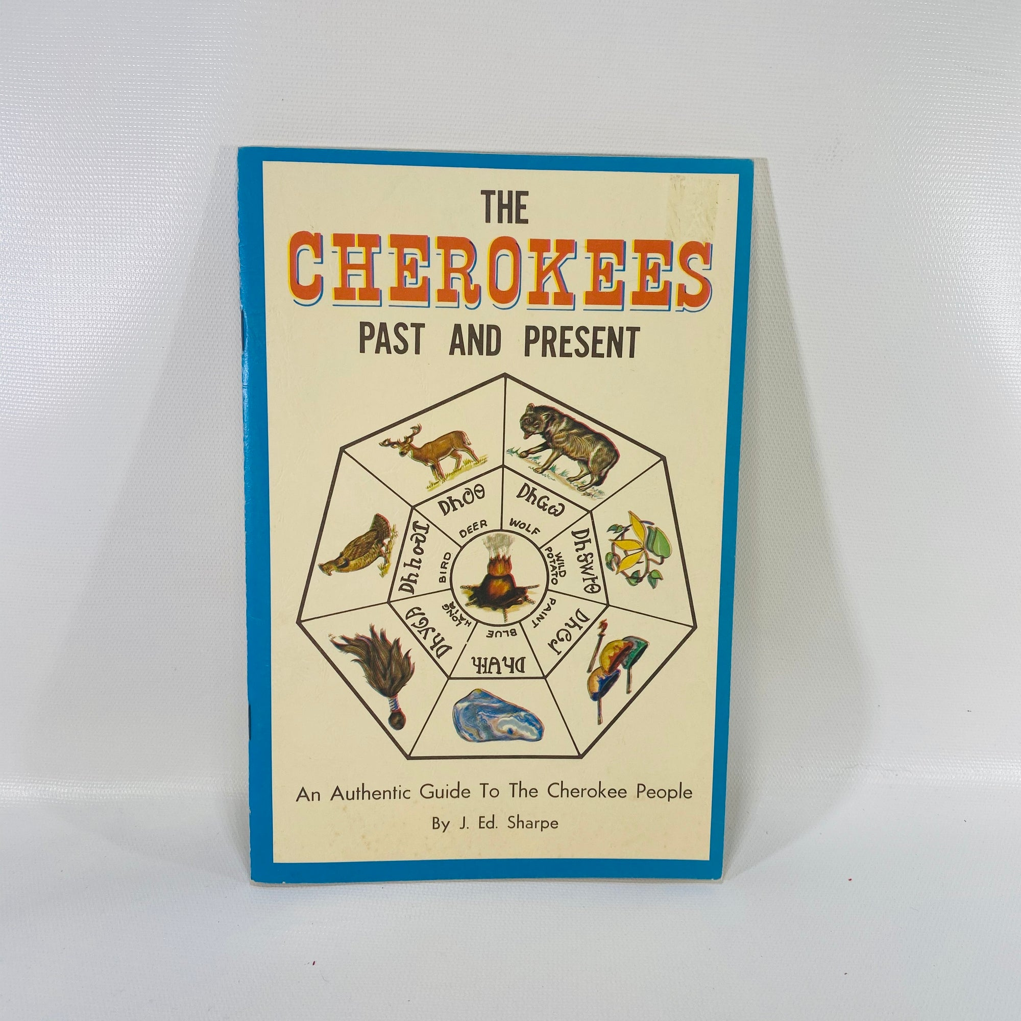 The Cherokees Past and Present by Ed.Sharpe 1970-Reading Vintage