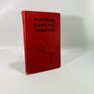 Rumford Complete Cookbook by Lilly Wallace 1936