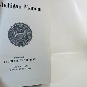 Michigan Manual 1959-1960 Pub by the State of Michigan-Reading Vintage