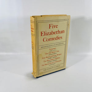 5 Elizabethan Comedies edited by A K MicIlwraith 1962-Reading Vintage