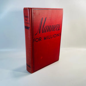 Manners for Millions by Sophia Hadida 1934-Reading Vintage