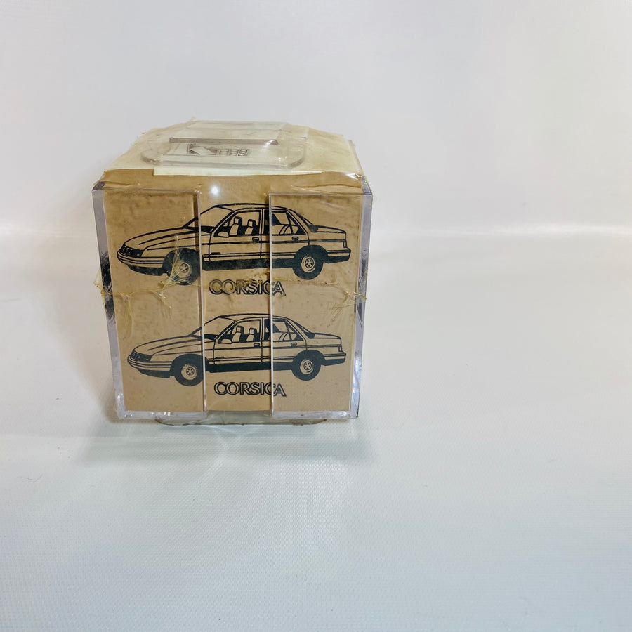 Vintage Chevrolet New Old Stock Notecube Beretta & Corsica-Reading Vintage