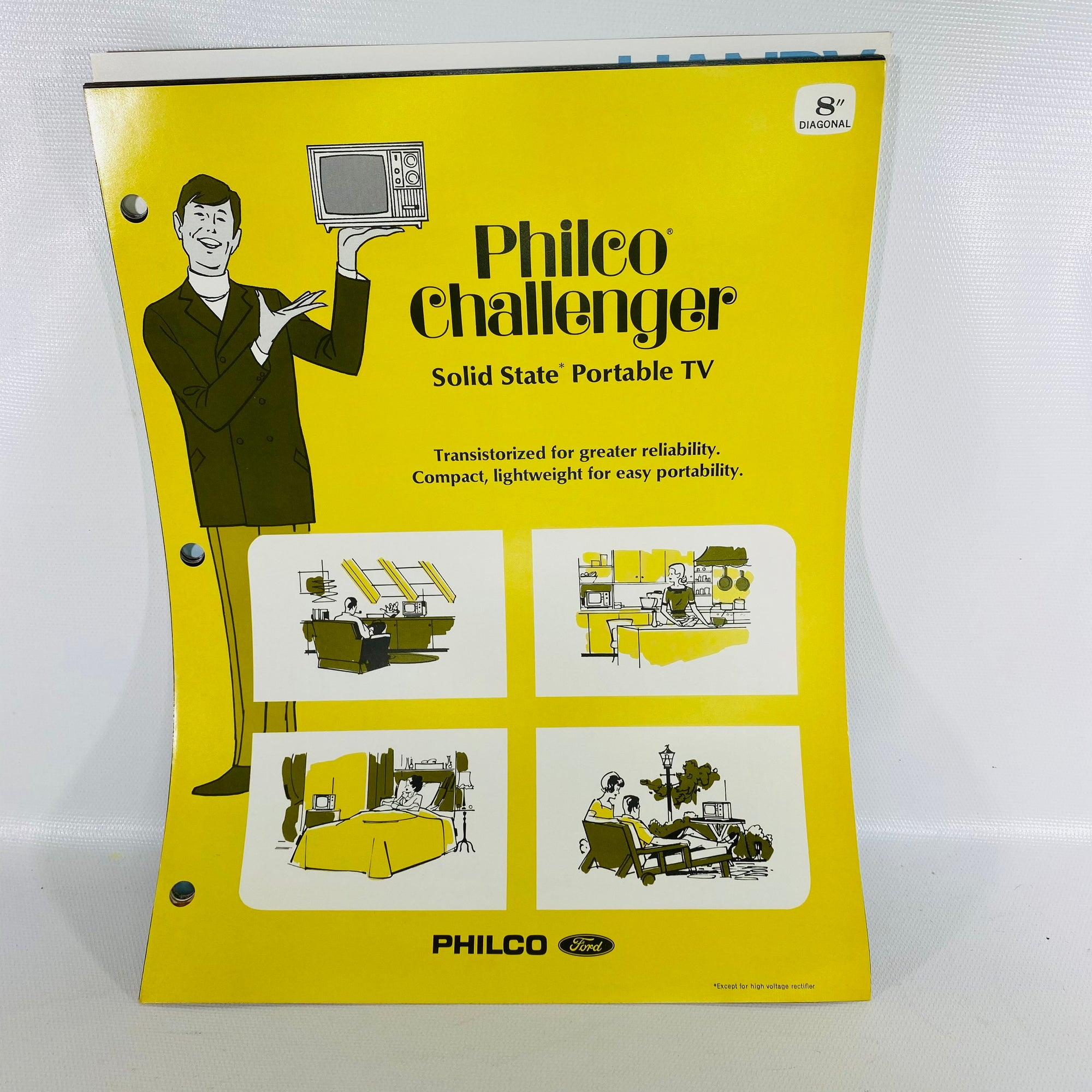 Philco Challenger Portable Tv Vintage Handbook-Reading Vintage