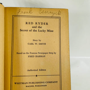Red Ryder & the Secret of the Lucky Mine by Carl Smith 1947-Reading Vintage