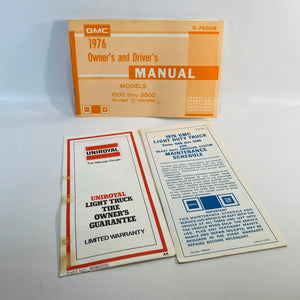GMC 1976 Light Duty Truck Owner & Driver Manual-Reading Vintage