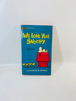 We Love You Snoopy by Charles M. Schulz 1962-Reading Vintage