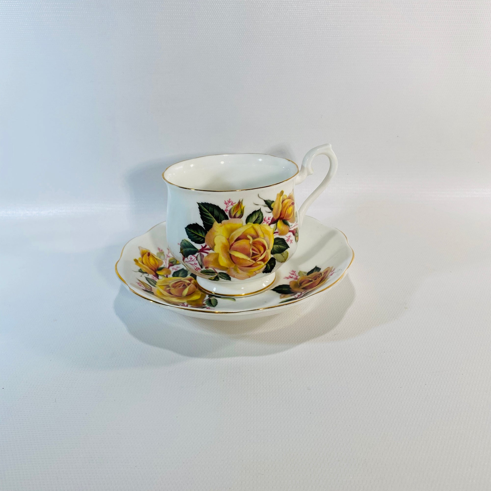 Royal Albert Floral Bone China English  Cup & Saucer-Reading Vintage