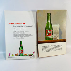 v2 Vintage 7-Up Pamphlets featuring Recipes using 7-up 1960's