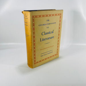 The Oxford Companion to Classical Literature by Sir Paul Harvey 1962