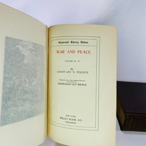 War and Peace Two Volumes  by Count Lev N Tolstoy 1904-Reading Vintage