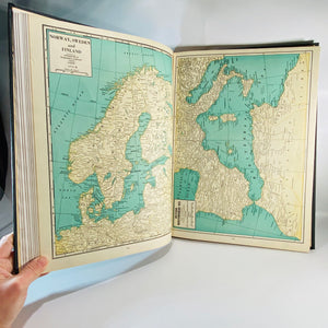New International Atlas of the World War History Deluxe 1946 Edition by Geographical Publishing Company