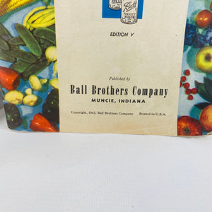 The Ball Blue Book of Canning & Preserving 1943 -Reading Vintage