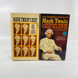 Set of Mark Twain Paperbacks Letters from the Earth and Mark Twain Best  1962