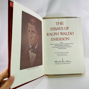 The Essays of Ralph Waldo Emerson in One Volume 1979 -Reading Vintage