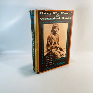 Bury My Heart at Wounded Knee by Dee Brown 1971-Reading Vintage