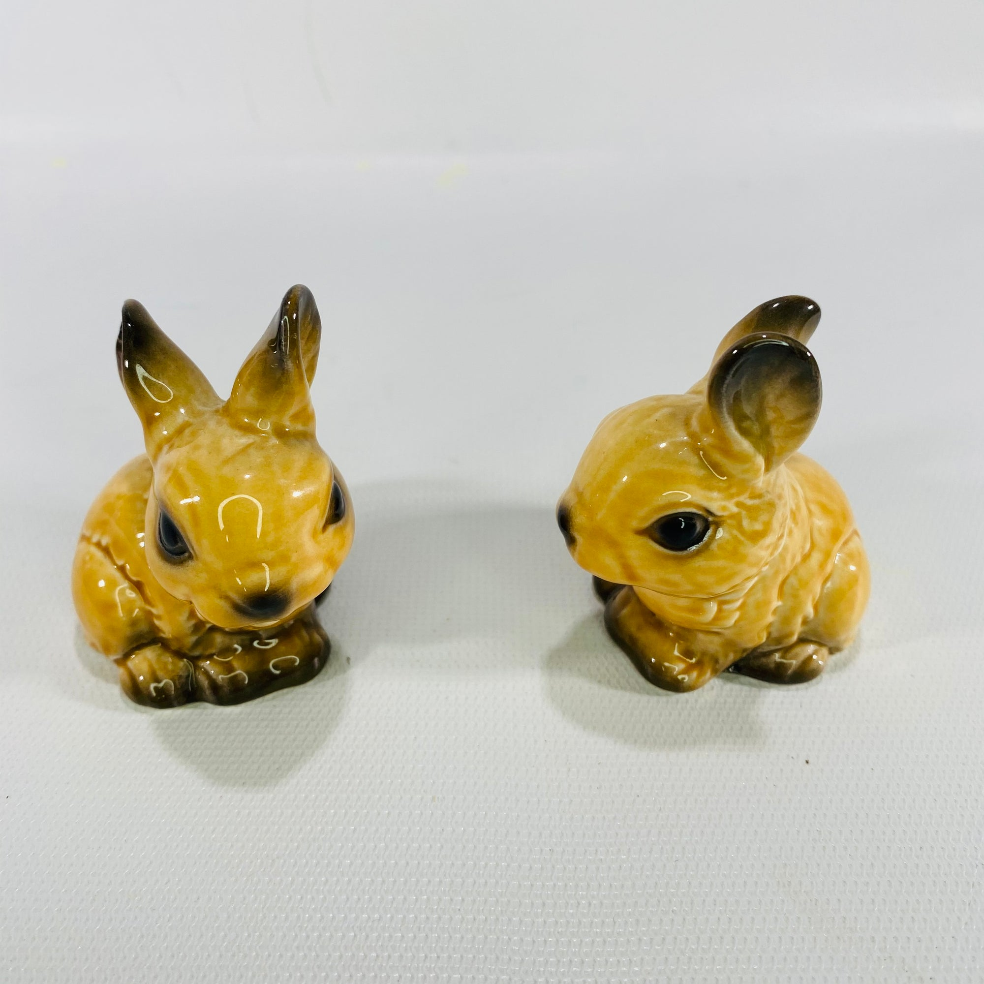 Pair of Goebel West Germany Small Bunny or Rabbits 3482906-Reading Vintage