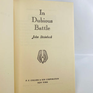 In Dubious Battle by John Steinbeck First Edition 1936-Reading Vintage