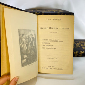 Bulwer's Works The Works of Edward Bulwer Lytton Lord Lytton-Reading Vintage