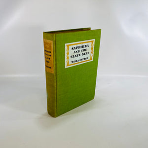 Sapphira &the Slave Girl by Willa Cather First Ed 1940-Reading Vintage