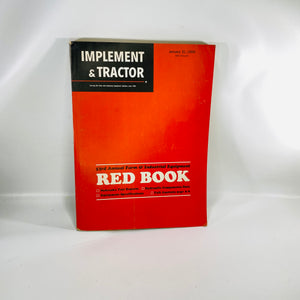 53rd Annual Farm Red Book Implement & Tractor 1969-Reading Vintage
