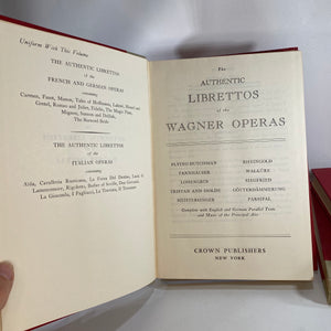 Librettos of the Operas: Wagner French German & Italian Operas-Reading Vintage