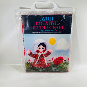 Avon Creative Needlecraft DollMaking Kit Calico Kate Doll-ReadingVintage