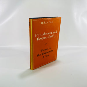 Punishment & Responsibility Essays Philosophy of Law by H L Hart 1968