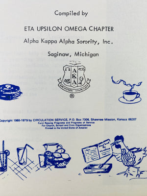 Favorite Recipes Compiled by Eta Upsilon Omega Chapter Saginaw Mi 1979