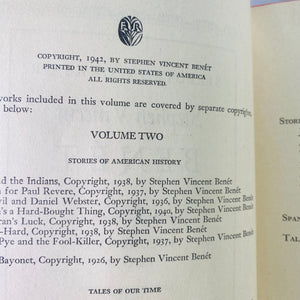 Selected Works of Stephen Vincent Prose & Poetry 1942-Reading Vintage