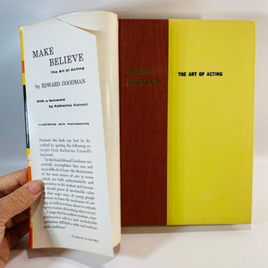 Make Believe the Art of Acting by Edward Goodman 1956-Reading Vintage