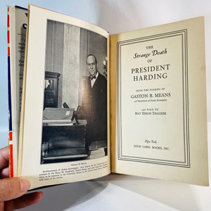 The Strange Death of President Harding by May Thacker 1931-Reading Vintage