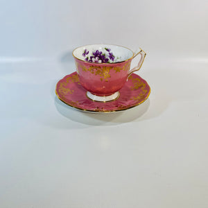 Aynsley Pink Ornate English Tea Cup&Saucer No 2917-Reading Vintage