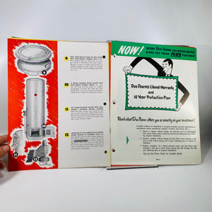 Advertising Pamphlet for Duo-Therm Gas Water Heaters by The Motor Wheel Corp of Lansing Michigan 1948