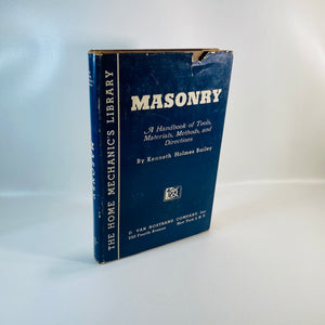 Masonry Handbook Tools Material by Kenneth Bailey 1945-Reading Vintage