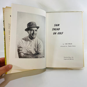 Sam Snead on Golf by Sam Snead First Edition 1960-Reading Vintage