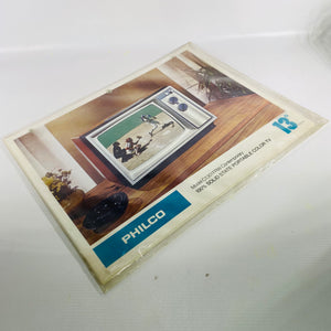 PHILCO Solid State Portable Color Tv Brochure 1970s-Reading Vintage