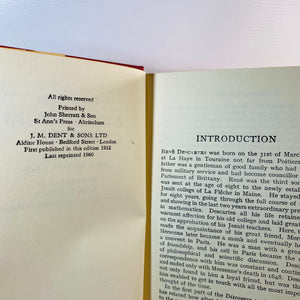 A Discourse on Method Meditations and Principles by Rene Descartes 1960 Everyman's Library No. 570