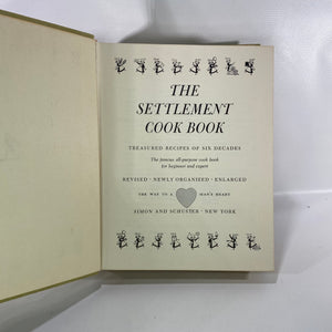 The Settlement Cook Book Treasured Recipes of Six Decades 1965 Simon & Schuster