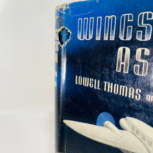 Wings Over Asia by Lowell Thomas 1937 First Edition-Reading Vintage