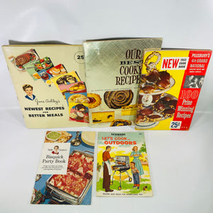 Five Vintage Recipes Pamphlet Collection from 1950's-Reading Vintage