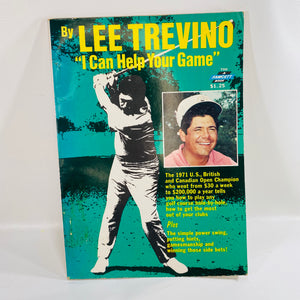 I Can Help Your Game by Lee Trevino A Faucett Paperback Book 1971-Reading Vintage