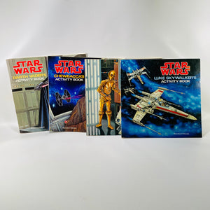 4 Star Wars Activity Books from 1979 Including Darth Vadar Artoo Detoo, Luke Skywalker and Chewbacca by Scholastic Book Services