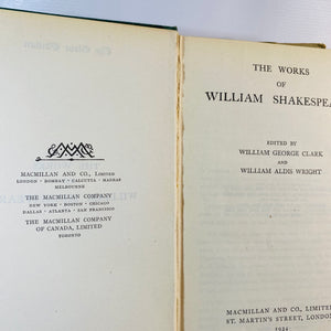 The Works of William Shakespeare A Globe Edition 1934-Reading Vintage
