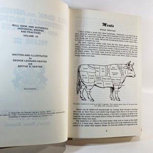 Bull Cook & Authentic Historical Recipes #3 George Herter 1973-Reading Vintage