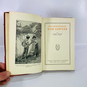 The Adventures of Tom Sawyer by Mark Twain 1917-Reading Vintage