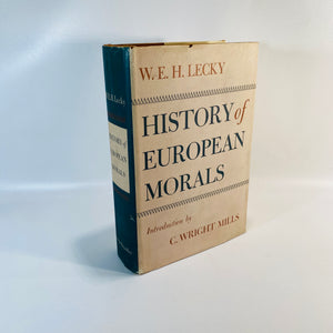 History of European Morals by W.E. Lecky 1955-Reading Vintage