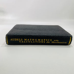 Audels Mathematics and Calculations for Mechanics 1943